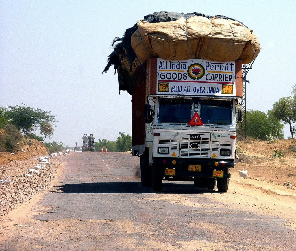 Overloaded lorry